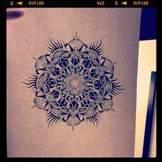 Mandala Designs, silviasablin: #mandala #tattoosketch