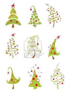 A collection of vector modern christmas trees Modern christmas trees Royalty Free Stock Vector Art Illustration Christmas Doodles, Christmas Drawing, Noel Christmas, Modern Christmas, Winter Christmas, Christmas Ornaments, Purple Christmas, Coastal Christmas, Christmas Tree Clipart
