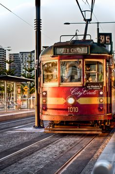 A free method of transportation throughout the city of Melbourne. City Circle known as the best and worst thing about Melbourne. If you're fine with being a sardine, you should definetly experience this old-fashioned city tram. Melbourne Tram, Melbourne Australia, Australia Travel, About Australia, Australia 2018, Brisbane, Sydney, Melbourne Victoria, Victoria Australia
