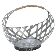 Check out this item at One Kings Lane! Farm Stand Metal Basket