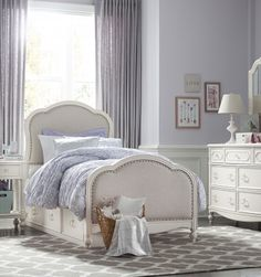 The Wendy Bellissimo Harmony Collection Upholstered Twin Bed.