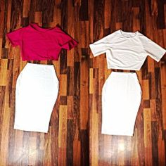 Crop Tops + Pencil Skirts