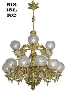Victorian Chandelier - Neo Rococo Circa 1857 18 Light (918-18L-RC)