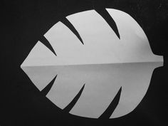 templates for jungle leaves | use this leaf template to cut out the perfect jungle leaf i used two ...