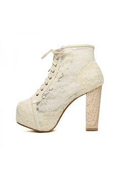 3e8daafa658889 Lace Women Lita Platforms Punk High Heels Boots Lace Up Ankle Shoes  FreeShip 626