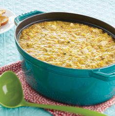 Fiesta Corn Chowder with Chicken gets its heat from chipotle chile powder, but feel free to substitute your favorite spicy seasoning. Tastes great with shredded rotisserie chicken breast.