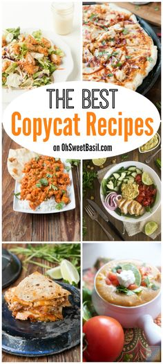 The best copycat recipes from some of your favorite restaurants including Applebee's, P.F. Changes, California Pizza Kitchen, Chili's and more!