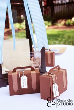 outside baby shower table decor and gifts