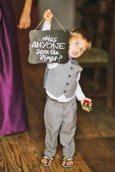Ring Bearer & Flower Girl - Super Cute Wedding Guests ❤ The smaller the better. You will get some really adorable pictures with ring bearer and flower girl! See more: http://www.weddingforward.com/ring-bearer/ #weddings #photography