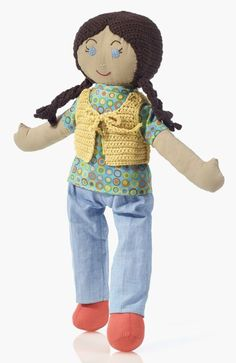 Inspired by the real-life friend of the designer, Emily is a spunky 18 inch rag doll who can be the perfect friend for a little girl. Limited edition! #ecotoysusa #ragdoll #fairtrade