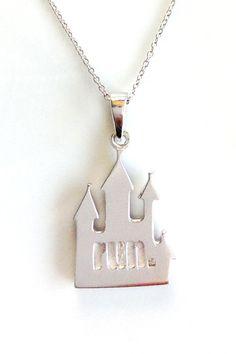 Endure Runner Necklace: Castle Pendant: Running Jewelry #runDisney #Disneyland #DisneyHalf