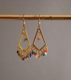 Creolen   Indische Art Leuchter Ohrringe   Ein Designerstück Von HalinaB  Bei DaWanda