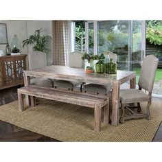 Hamshire Reclaimed Wood 72-inch Dining Table by Kosas Home (1,065 CAD) ❤ liked on Polyvore featuring home, furniture, tables, dining tables, white, white dining table, dinner table, handmade kitchen table, rectangle kitchen table and white kitchen table