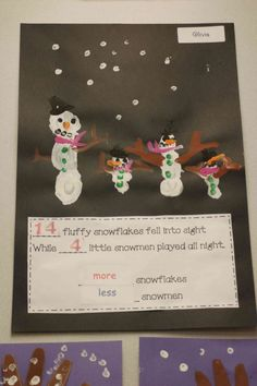 Chalk Talk: A Kindergarten Blog: Snowmen at Night