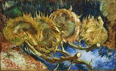 Vincent van Gogh Four Cut Sunflowers painting for sale - Vincent van Gogh Four Cut Sunflowers is handmade art reproduction; You can shop Vincent van Gogh Four Cut Sunflowers painting on canvas or frame. Vincent Van Gogh, Art Van, Flores Van Gogh, Van Gogh Flowers, Sun Flowers, Fresh Flowers, Van Gogh Still Life, Van Gogh Arte, Van Gogh Pinturas