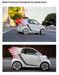 Haha cool styled Smart car by Mercedes Weird Cars, All Cars, Crazy Cars, My Dream Car, Dream Cars, Dude Where's My Car, Inside Out Project, Train Truck, Smart Car