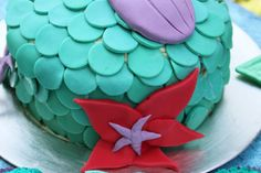 Close up #littlemermaid #cake #ariel