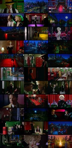 Dick Tracy - -Dick Tracy cinematography by Vittorio Storaro & Art Direction by Richard Sylbert & Rick Simpson . Indie Movies, Old Movies, Old Movie Posters, Light Film, Movie Shots, Film Movie, Cinema Film, The Book Thief, Movies