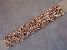 """Rose Gold Champagne Bridal Sash - embellishment is 1""""x15"""" or 1.5""""x10"""" One of a kind, custom"""