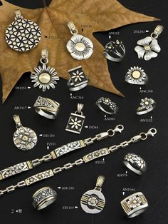 Diversidad de Flores, dijes, anillos y pulseras.