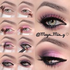 .@maya_mia_y | Pictorial on today's requested look Prime the lids using Urban Decay primer ...
