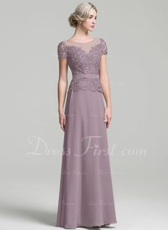 A-Line/Princess Scoop Neck Floor-Length Chiffon Mother of the Bride Dress - Mother of the Bride Dresses - DressFirst Bride Dresses, Bridesmaid Dresses, Wedding Dresses, Mother Of The Bride, Amanda, Evening Dresses, Scoop Neck, Chiffon, Floor