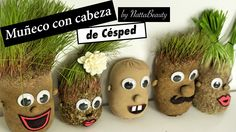 Como hacer MUÑECO CON CABEZA DE CESPED / muñeco con cabeza de pasto Leaf Crafts, Clay Pot Crafts, Aquascaping, Baby Information, Rainy Day Activities, Toddler Meals, Clay Pots, Kids Learning, Grass