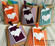 handmade treat bags, handmade treats, mini treat bags, treat pouches, clothespins, embossed, bright colors, DIY, demonstrator, paper crafting, easy, greeting card, stamping, craft, paper, *Stampin' Up, by Amy Frillici, Gathering Inkspiration Stamp Studio, order products online at amysuzanne.stampinup.net