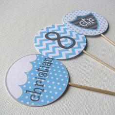 cupcake toppers for baptism