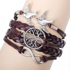 Unique Life Tree Pigeons Infinity Bracelet for only $9.90 ,cheap Jewelry&Accessories online shopping,Unique Life Tree Pigeons Infinity Bracelet represent the life and peace and love. It will be a perfect gift for her