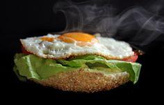 Contacto con lo Divino: Hamburguesas Caseras. Huevos Fritos, Salmon Burgers, Risotto, Ethnic Recipes, Food, World, Gourmet Burgers, Healthy Recipes, Eating Clean