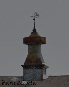 barn cupola w/old weather vane