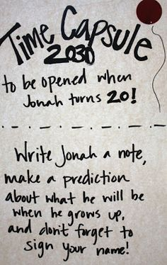 oh yes! I am SO doing this - can frame and put up comments on the walls at their 18th do's!