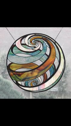'Inner Circle' glasfusing made by Glass Stained Glass Mosaic, Glass Painting, Glass Design, Art, Fused Glass, Glass Art, Stained Glass Panels