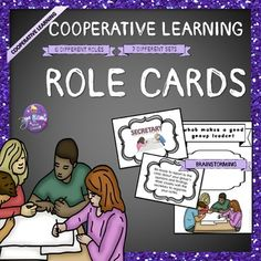 "If you have wanted to try ""Cooperative Learning"" in your classroom, then adopt these cards!Groupwork is often tricky for any teacher, but with these Cooperative Learning Role Cards you will find it soooo easy (and your students will work and like it!).This is a huge set in which you will find: 6 different roles : group leader, time manager, secretary, reporter, encourager and secret spy."