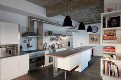 Risultati immagini per stile industriale cucina lampadario