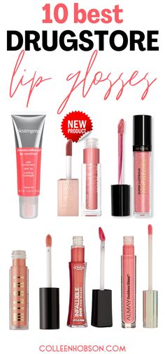 Get that glossy juicy looking pout you've always wanted without any damage to your budget with these 10 amazing drugstore lip glosses. #best #drugstore #lip #gloss Best Drugstore Lip Gloss, Drugstore Makeup Dupes, Makeup Bag Essentials, Beauty Hacks Skincare, Lip Products, Beauty Products, Budget, Beauty Trends, Beauty Tips