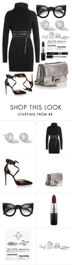 """""""Untitled #4243"""" by dudas2pinheiro ❤ liked on Polyvore featuring Riviere, Valentino, Christian Louboutin, Jimmy Choo, MAC Cosmetics, Boohoo, GUESS and Christian Dior"""