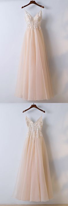 Only $118, Prom Dresses Boho Champagne Lace Long Prom Dress With Spaghetti Straps #MYX18059 at #GemGrace. View more special Bridal Party Dresses,Prom Dresses,Homecoming Dresses now? GemGrace is a solution for those who want to buy delicate gowns with affordable prices, a solution for those who have unique ideas about their gowns. 2018 new arrivals, shop now to get $10 off!
