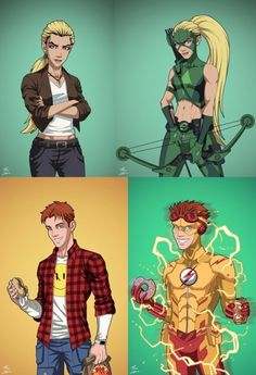 Young Justice Created by Phil Cho Young Justice Wally, Young Justice Season 3, Young Justice League, Young Justice Couples, Spitfire Young Justice, Artemis Young Justice, Justice League Unlimited, Kid Flash, Fanart