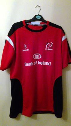 1217996bde3 Ulster Rugby Kukri black  red training t shirt XXL