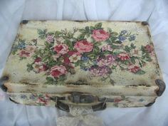 Decoupaged suitcase