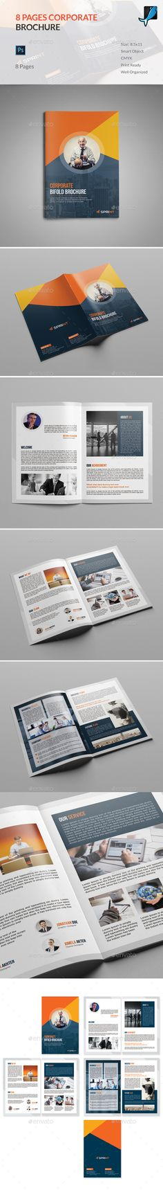 8 Page Brochure Template can be used for any business purpose or others sector. It is fully editable & easily photo changes option