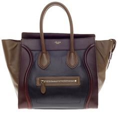 Pre-owned Celine Tote (€1.660) ❤ liked on Polyvore featuring bags, handbags, tote bags, purses, apparel & accessories, tote handbags, wallets & cases, leather tote bags, leather tote and pocket tote