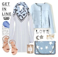"""""""Powder blue with yoins"""" by pensivepeacock ❤ liked on Polyvore featuring Lipsy, STELLA McCARTNEY, Lanvin, Elina Linardaki, Kenzo and Cocolux"""