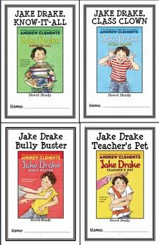 Jake Drake Collection (Andrew Clements) 4 Novel Studies / Comprehension Units * Follows the Common Core Standards *  This Jake Drake Collection contains all four Novel Studies from the Jake Drake Series by Andrew Clements. In total, there are 94 pages. Each Novel Study is in booklet-style PDF format.