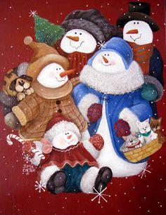 "*SNOW-FAMILIA ~ ""The Holiday Family Portrait"""