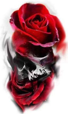 Cool Skull Tattoos For Women – My hair and beauty Skull Rose Tattoos, Body Art Tattoos, Sleeve Tattoos, Tattoo Sketches, Tattoo Drawings, I Tattoo, Tatuajes Tattoos, Bild Tattoos, Tatoos