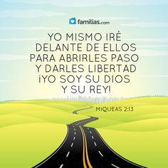 Miqueas 2:13 Subirá el que abre caminos delante de ellos; abrirán camino y pasarán la puerta, y saldrán por ella; y su rey pasará delante de ellos, y a la cabeza de ellos Jehová.♔