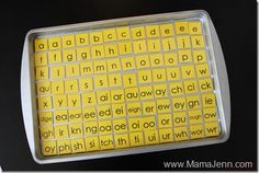oh boy do we need these: magnetic phonogram tiles for spelling